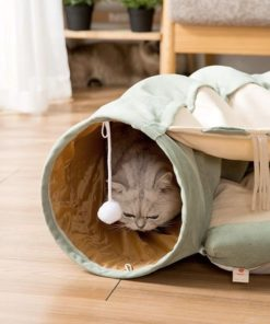 Panier tunnel pour chats