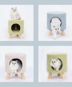 Tabouret niche pour chat