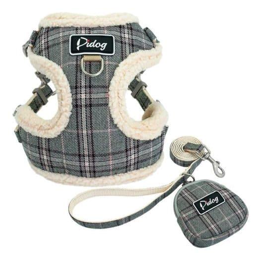 Harnais pour petit chien - Écossais gris