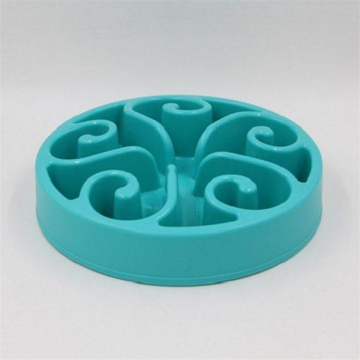 Gamelle anti-glouton plastique bleu turquoise