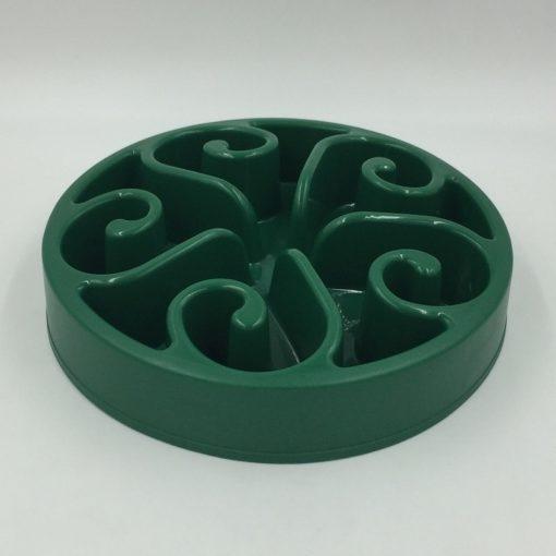 Gamelle anti-glouton plastique vert foncé
