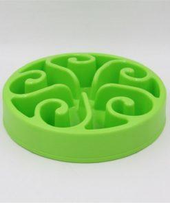 Gamelle anti-glouton plastique vert