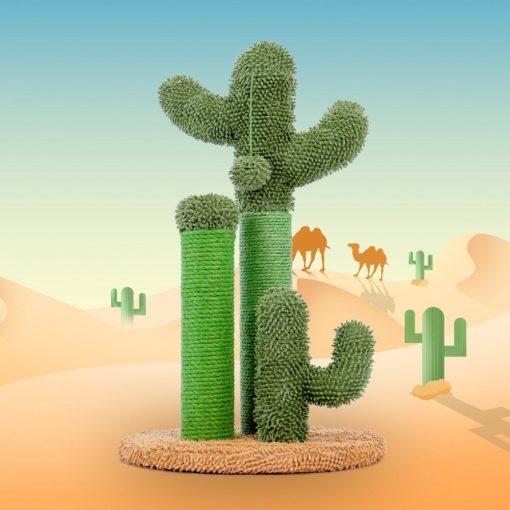 Arbre à chat cactus - Vert et paille